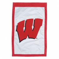 "Wisconsin Badgers 28"" x 44"" Double Sided Applique Flag"
