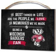 Wisconsin Badgers Best Things Small Plaque
