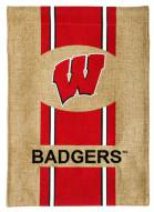 Wisconsin Badgers Burlap Garden Flag