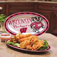 Wisconsin Badgers Ceramic Serving Platter