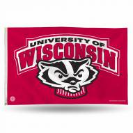 Wisconsin Badgers College 3' x 5' Banner Flag