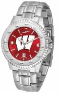 Wisconsin Badgers Competitor Steel AnoChrome Men's Watch