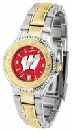 Wisconsin Badgers Competitor Two-Tone AnoChrome Women's Watch