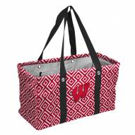 Wisconsin Badgers Double Diamond Picnic Caddy