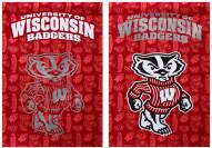 Wisconsin Badgers Double Sided Glitter Flag