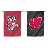 Wisconsin Badgers Double Sided House Flag