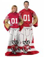 Wisconsin Badgers Full Body Comfy Throw Blanket