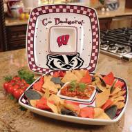 Wisconsin Badgers Gameday Chip N Dip Dish
