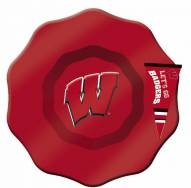 Wisconsin Badgers Glass Dip Bowl with Charm