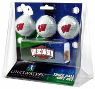 Wisconsin Badgers Golf Ball Gift Pack with Slider Clip
