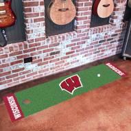 Wisconsin Badgers Golf Putting Green Mat