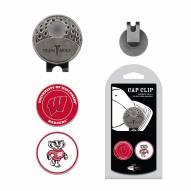 Wisconsin Badgers Hat Clip & Marker Set