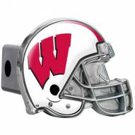 Wisconsin Badgers Metal Helmet Trailer Hitch Cover