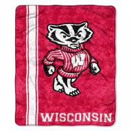 Wisconsin Badgers Jersey Sherpa Blanket
