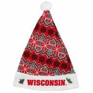 Wisconsin Badgers Knit Santa Hat