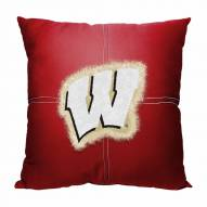 Wisconsin Badgers Letterman Pillow