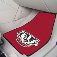 Wisconsin Badgers Logo 2-Piece Carpet Car Mats