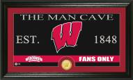 Wisconsin Badgers Man Cave Bronze Coin Panoramic Photo Mint