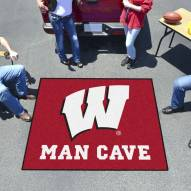 Wisconsin Badgers Man Cave Tailgate Mat