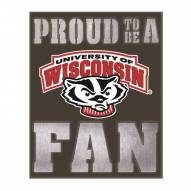 Wisconsin Badgers Metal LED Wall Sign