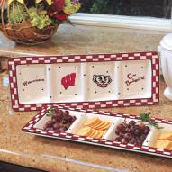 Wisconsin Badgers NCAA Ceramic Relish Tray