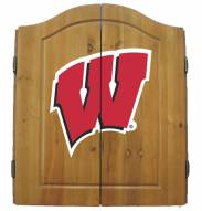 Wisconsin Badgers NCAA Complete Dart Board Cabinet Set