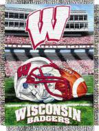 Wisconsin Badgers NCAA Woven Tapestry Throw / Blanket