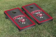 Wisconsin Badgers Onyx Stained Border Cornhole Game Set