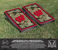 Wisconsin Badgers Operation Hat Trick Border Cornhole Game Set