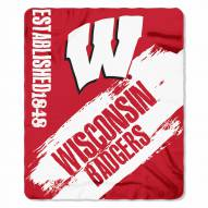 Wisconsin Badgers Painted Fleece Blanket