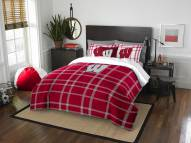 Wisconsin Badgers Plaid Full Comforter Set
