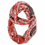 Wisconsin Badgers Plaid Sheer Infinity Scarf