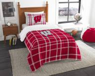 Wisconsin Badgers Plaid Twin Comforter Set