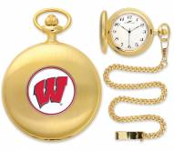 Wisconsin Badgers Pocket Watch - Gold