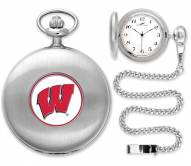 Wisconsin Badgers Pocket Watch - Silver