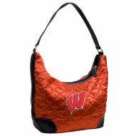 Wisconsin Badgers Quilted Hobo Handbag