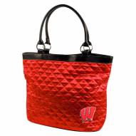 Wisconsin Badgers Quilted Tote Bag