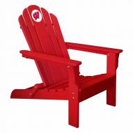 Wisconsin Badgers Red Adirondack Chair