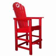 Wisconsin Badgers Red Pub Captain Chair