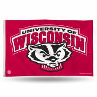Wisconsin Badgers 3' x 5' Banner Flag