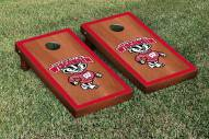 Wisconsin Badgers Rosewood Stained Border Cornhole Game Set