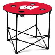Wisconsin Badgers Round Folding Table