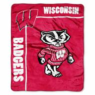 Wisconsin Badgers School Spirit Raschel Throw Blanket