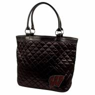 Wisconsin Badgers Sport Noir Quilted Tote