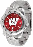 Wisconsin Badgers Sport Steel AnoChrome Men's Watch