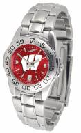 Wisconsin Badgers Sport Steel AnoChrome Women's Watch