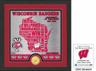 Wisconsin Badgers State Bronze Coin Photo Mint