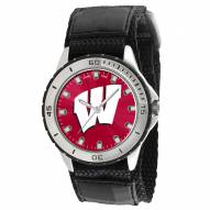 Wisconsin Badgers Veteran Velcro Mens Watch