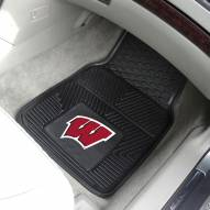Wisconsin Badgers Vinyl 2-Piece Car Floor Mats