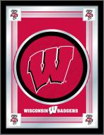 Wisconsin Badgers W Logo Mirror